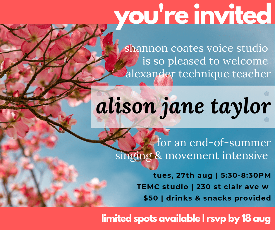 invitation to alexander technique workshop